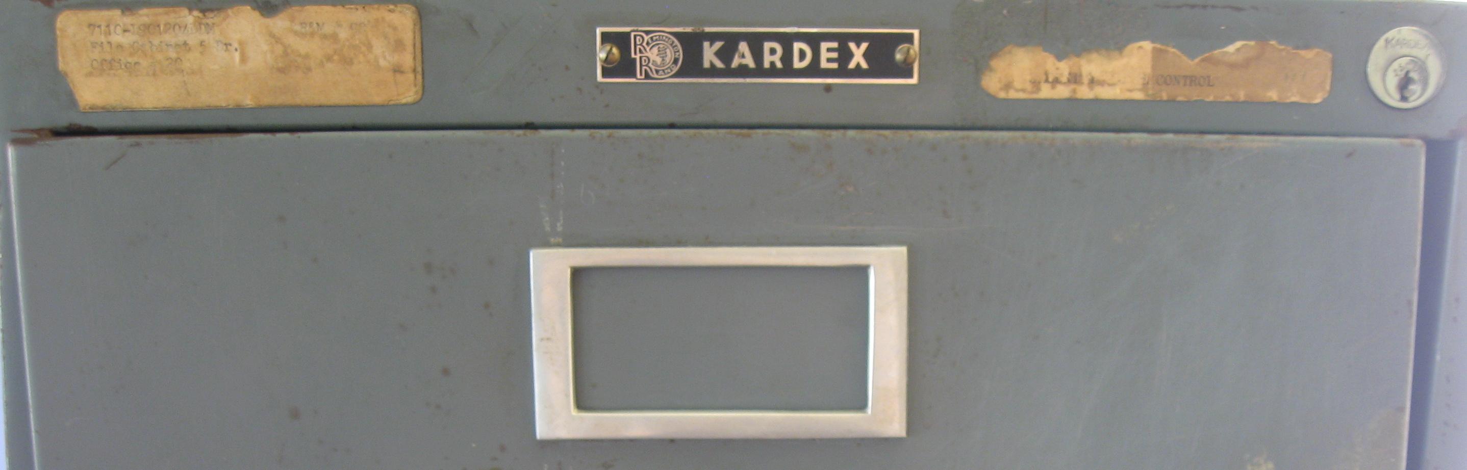 Mein Remington Rand Kardex