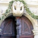 Ornamente am Eingang