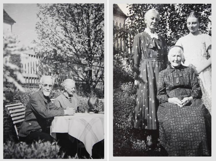 Urgroßeltern - Urgroßmutter, Ur-Urgroßmutter und Großmutter