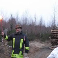 Der Bürgermeister von Neckarsteinach entzündete das Lärmfeuer