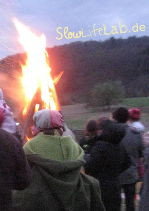 Lärmfeuer 2012 in Eulsbach, einem Ortsteil von Lindenfels