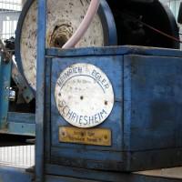 Die selbstfahrende Bandsäge wurde in Schriesheim hergestellt