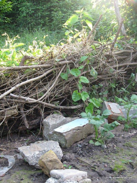 Unser Damm nach der Überschwemmung