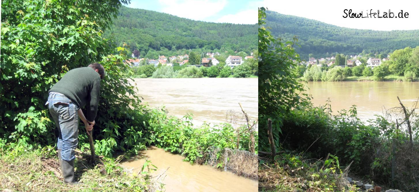 Während und nach der Überschwemmung