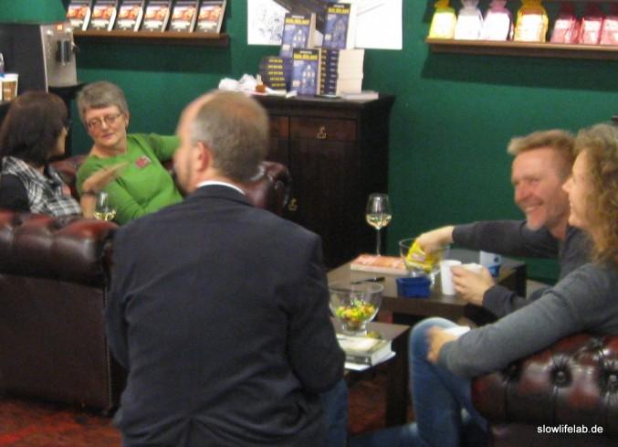 Ein Stand zum Wohlfühlen: Der KBV-Verlag auf der Frankfurter Buchmesse 2013. Allerdings sind die meisten Krimis keine zeitlosen, nachhaltig sinnhaften Werke.