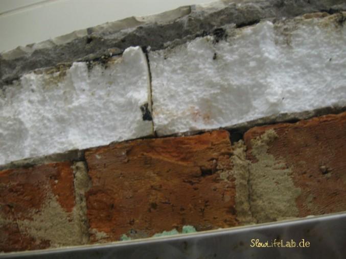 Isolationsschicht aus Styropor