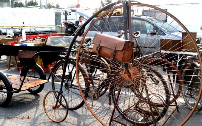 Sogar ein Hochrad konnte man auf der Veterama kaufen