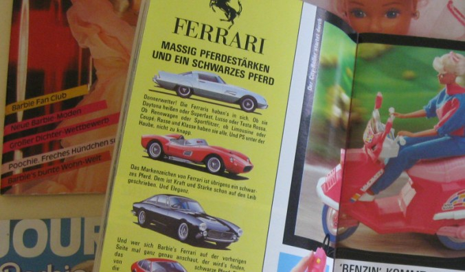 Ferrari im Barbie-Journal