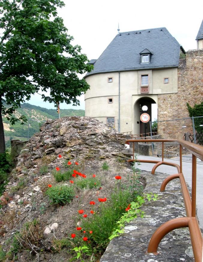 Das Burgtor der Burg Ebernburg