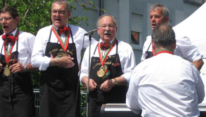 Les joyeux Bourguignons aus der Partnerstadt Beaune