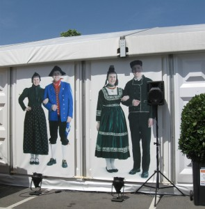 Das HVT-Zelt im Trachtenland Hessen